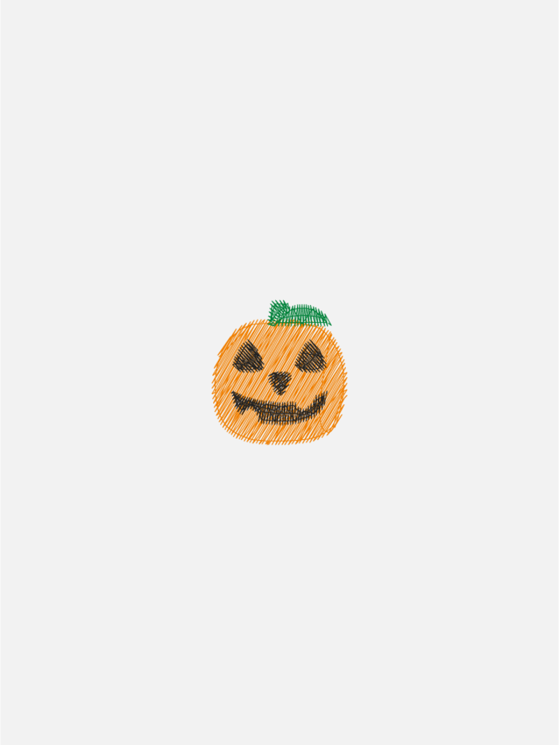 Halloween motif embroidery