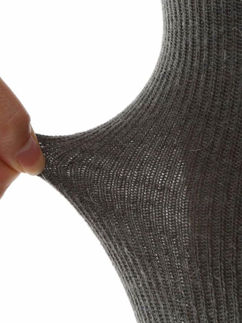 Gerippte Strumpfhose aus gemischter Wolle