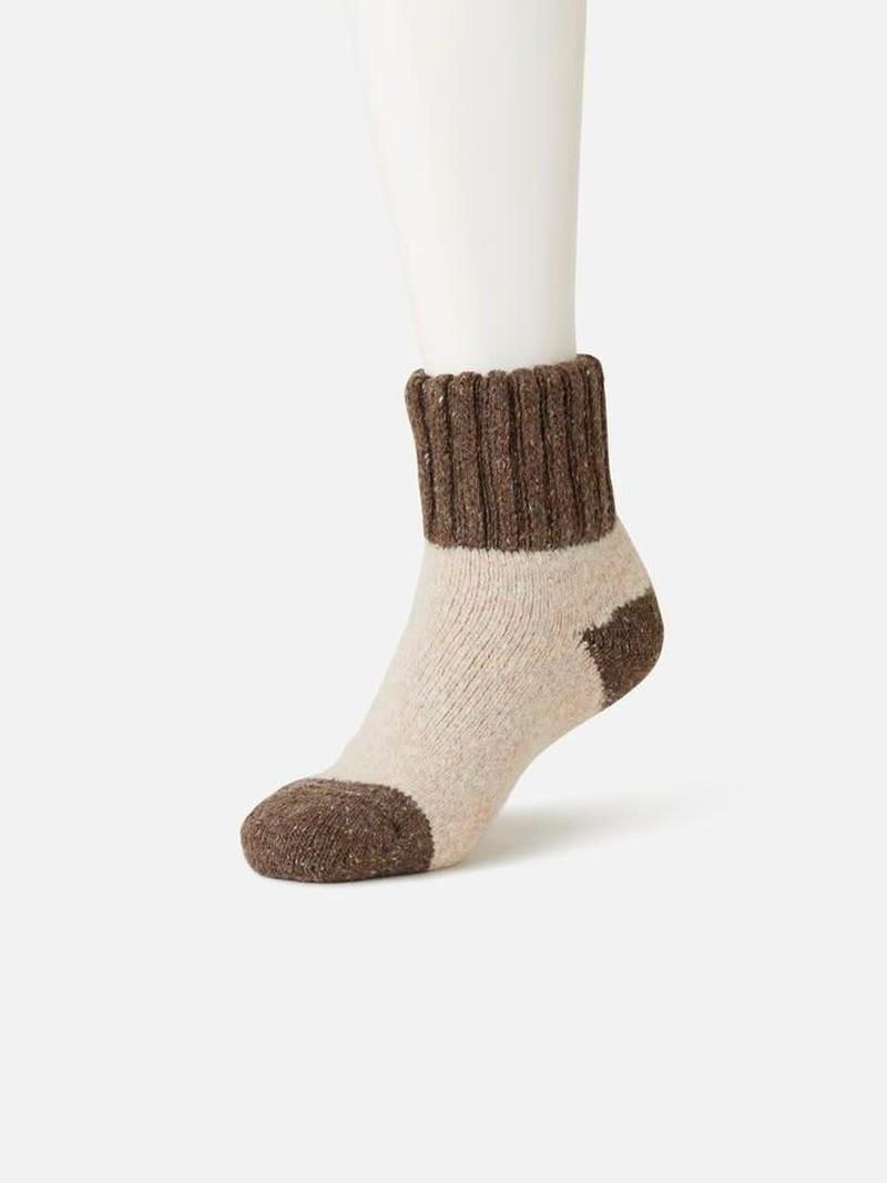 Chunky Ribbed Cuff Room Socks