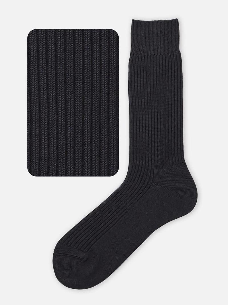 2x2 Ribbed Crew Socks L