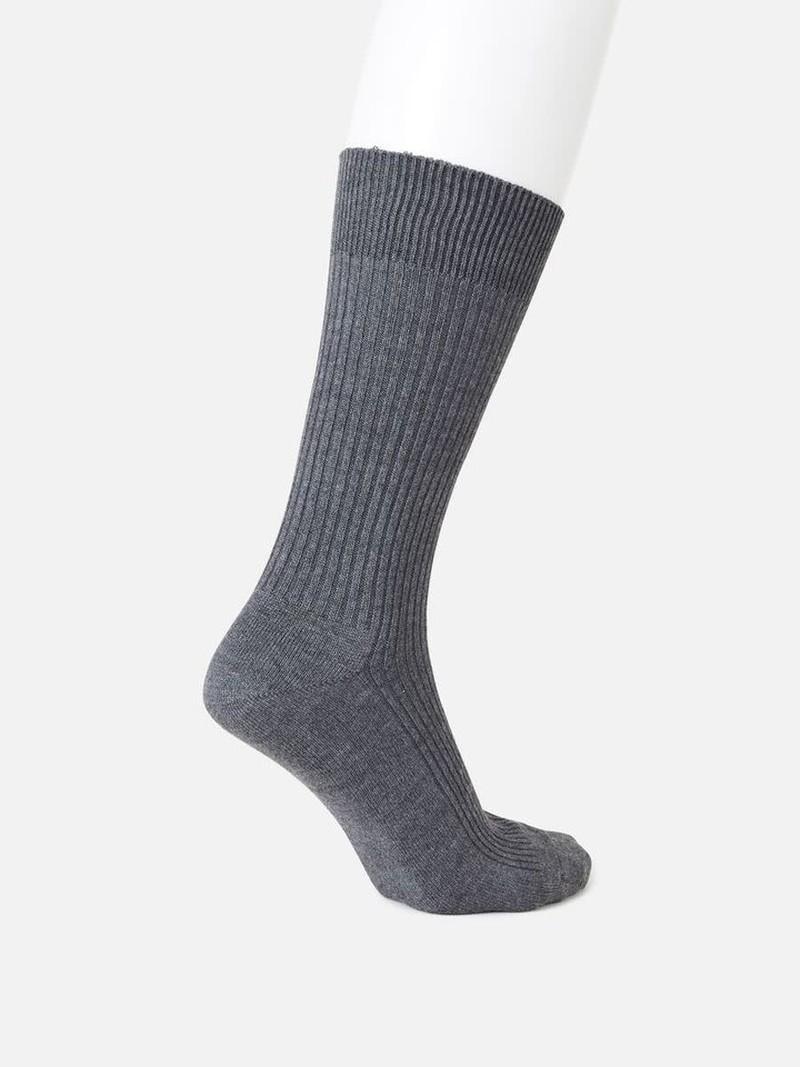 Mi-chaussette 144N côtes 2x2 L