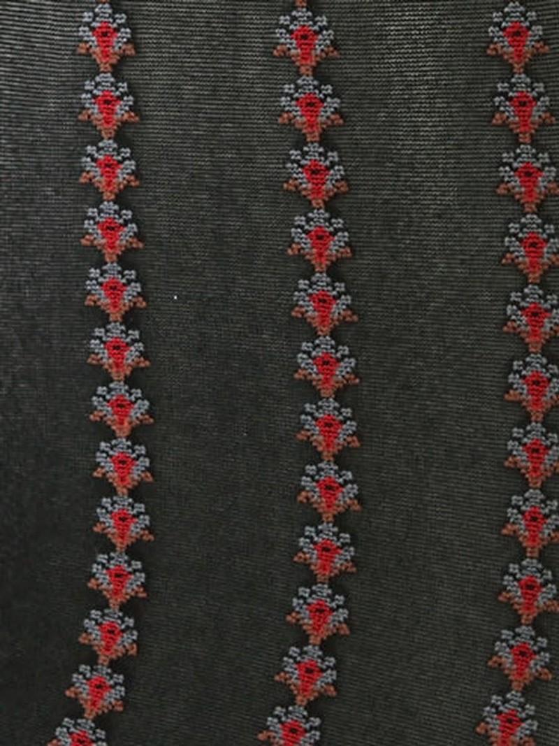 20D verticaal gestreepte minikousen