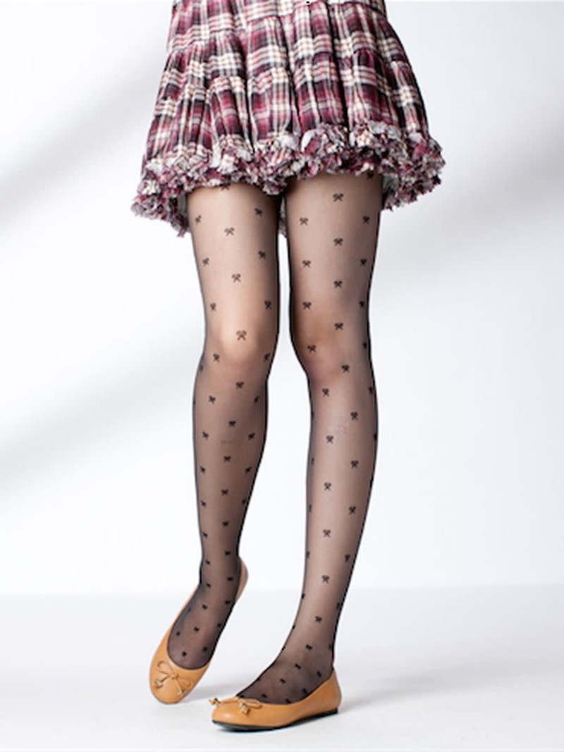 Clear Ribbon Stockings M