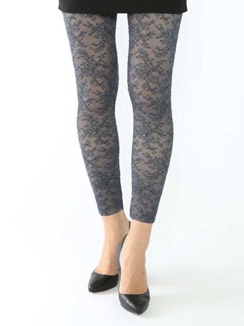 Leggings floreali in pizzo elasticizzato