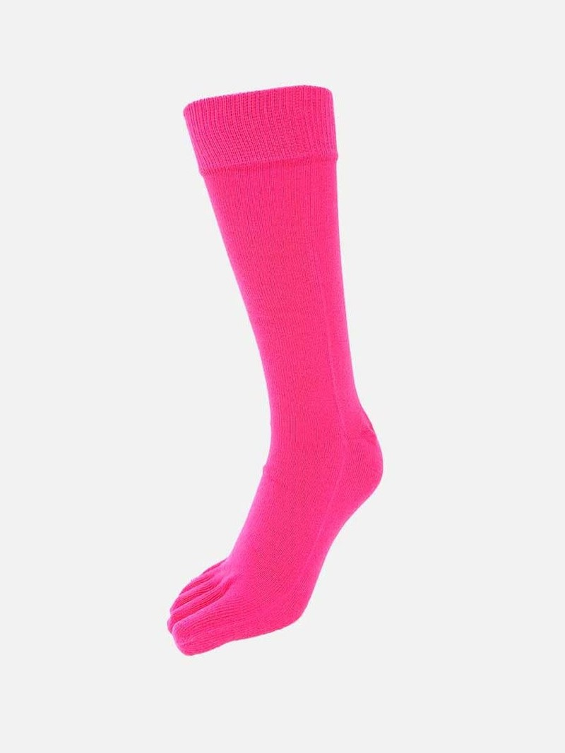 Plain Toe Mid-Calf Socks L