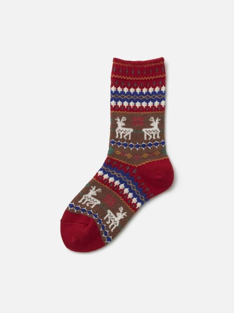 Reindeer Kids Socks L
