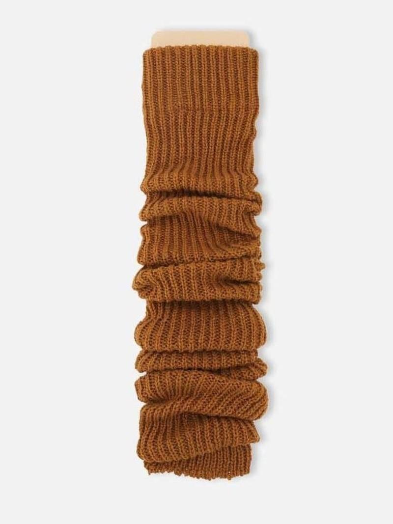 Jambière longue côtelée fil Bulky