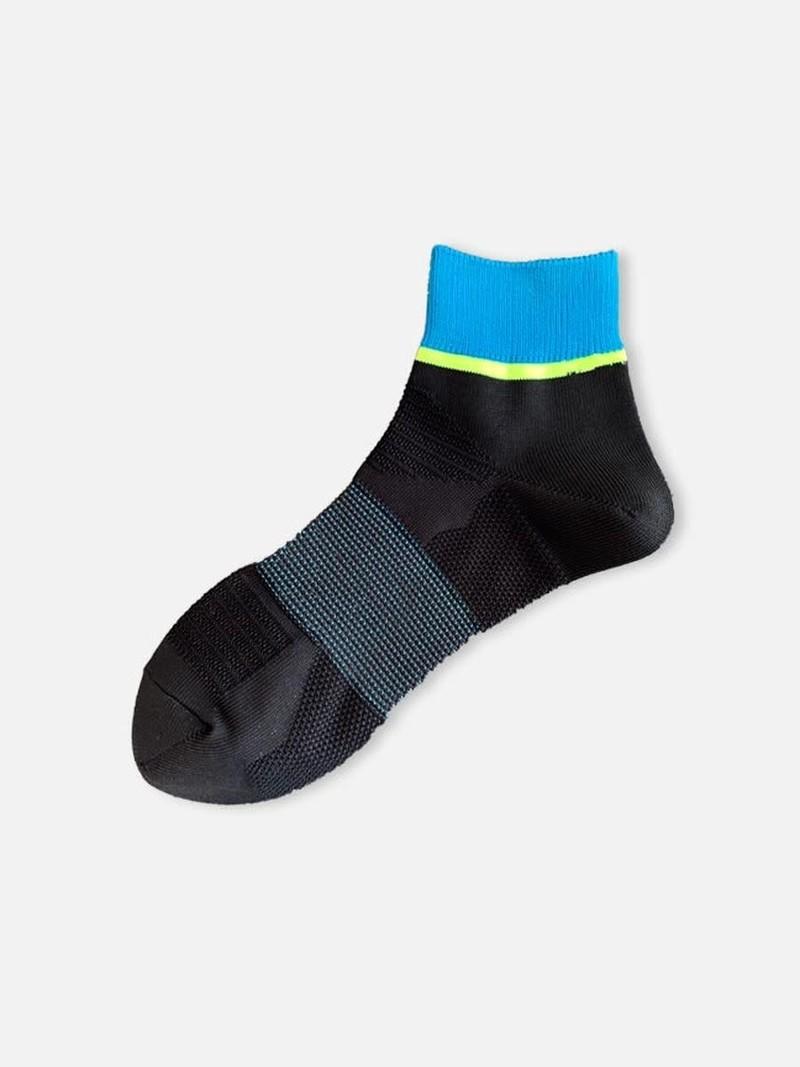 Socquette dry CEOα bord rayure coloré M