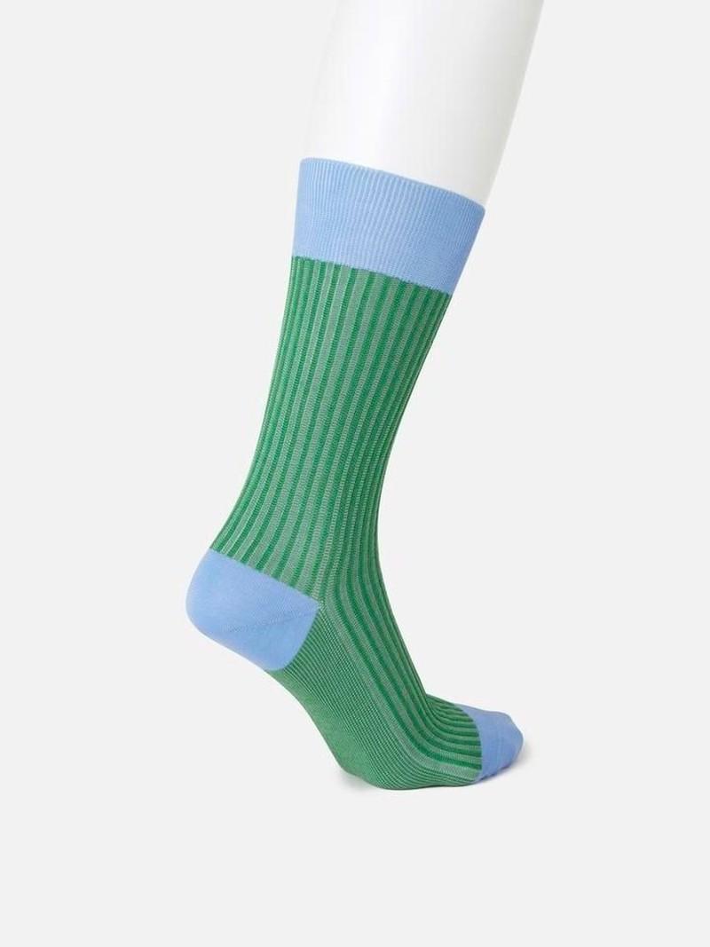 Jacquard Stripe Crew Socks L