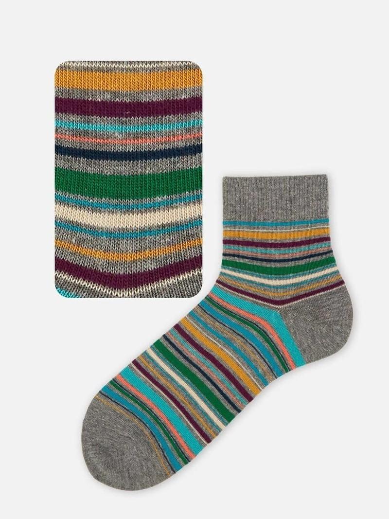 Multi-Stripe Short Socks M