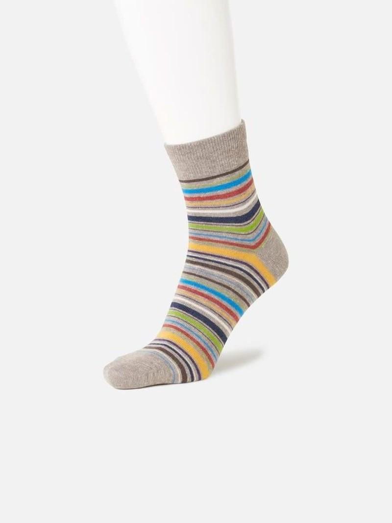 Multi-Stripe Short Socks L