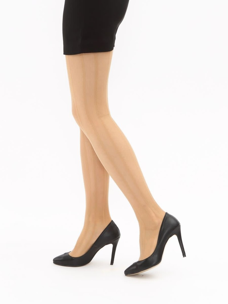 20D gestreepte kanten panty