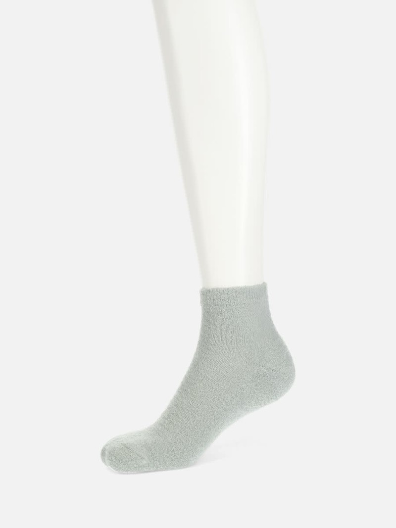 Socquette unie éponge en nylon chenille