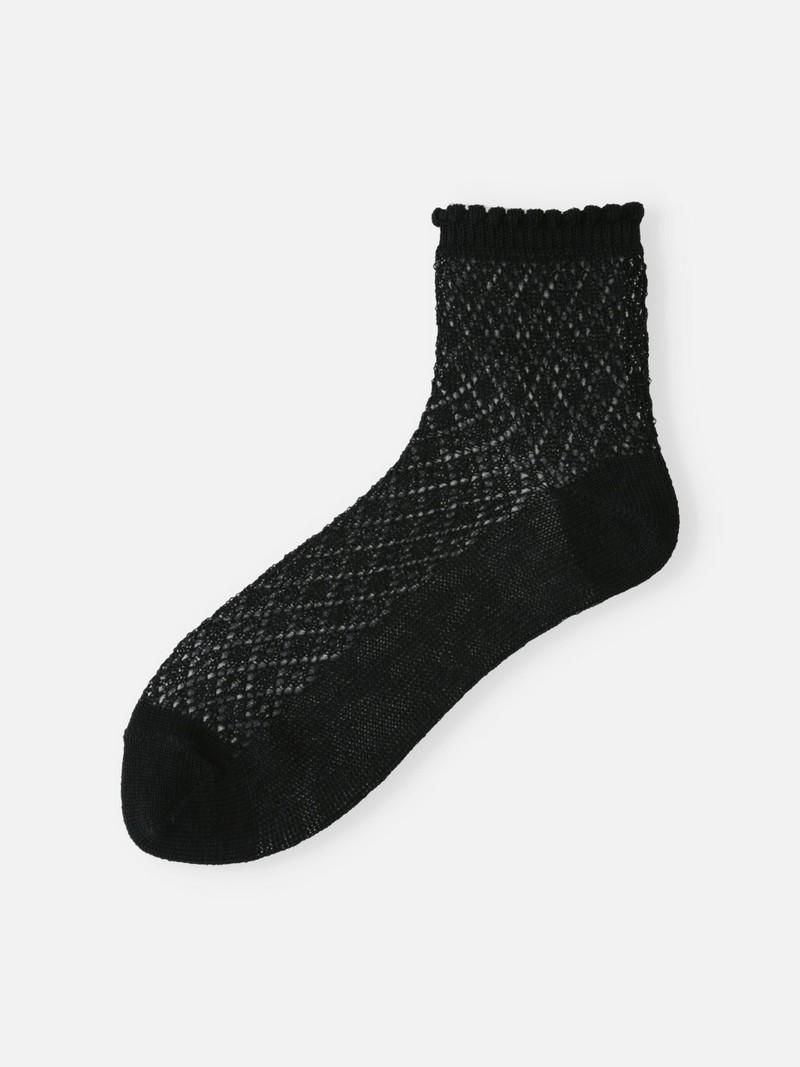 Durchbrochene Socke aus weichem Diamant