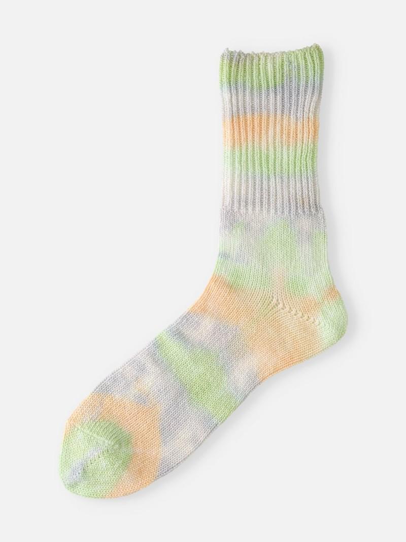 Cotton Ribbed Tie-Dye Loose Socks M