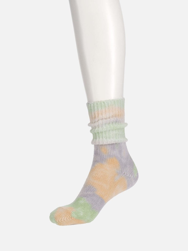 Calze di cotone a coste Tie-Dye sciolte