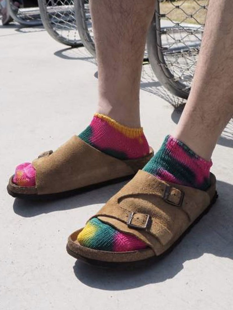 Tie-Dye Trainer Socken Herren
