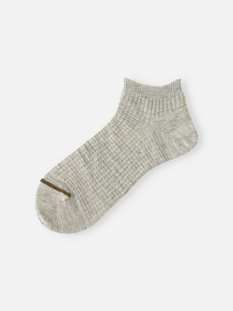 Leinen Waffel Trainer Socken