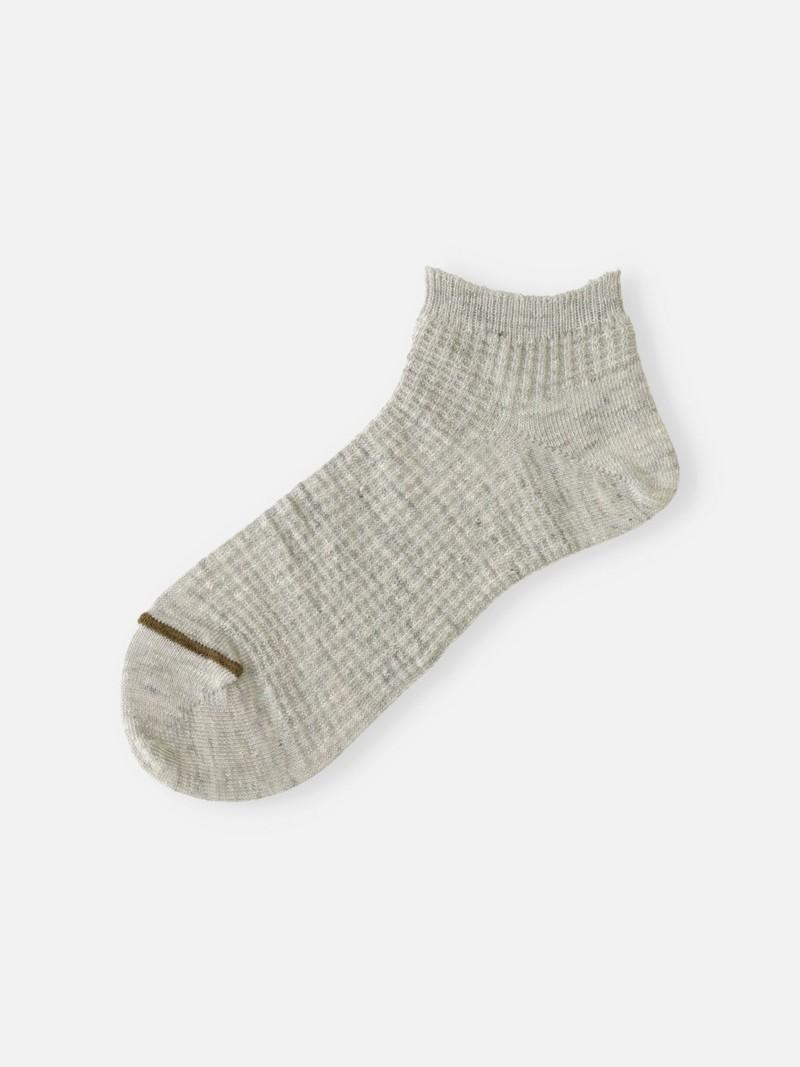 Linen Waffle Trainer Socks