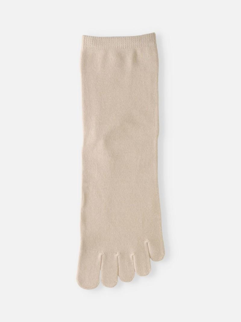 Socquette 5 orteils uni coton