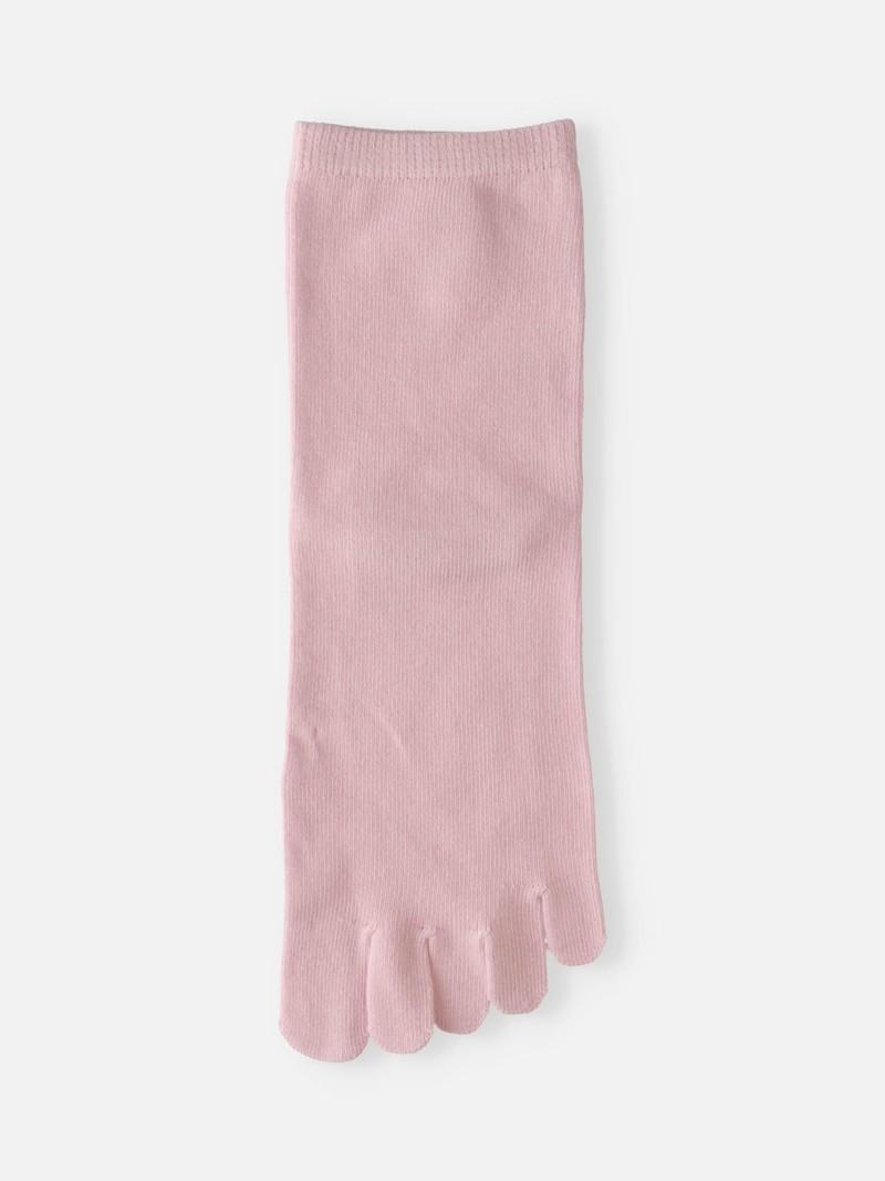Effen lage sokken met ronde neus