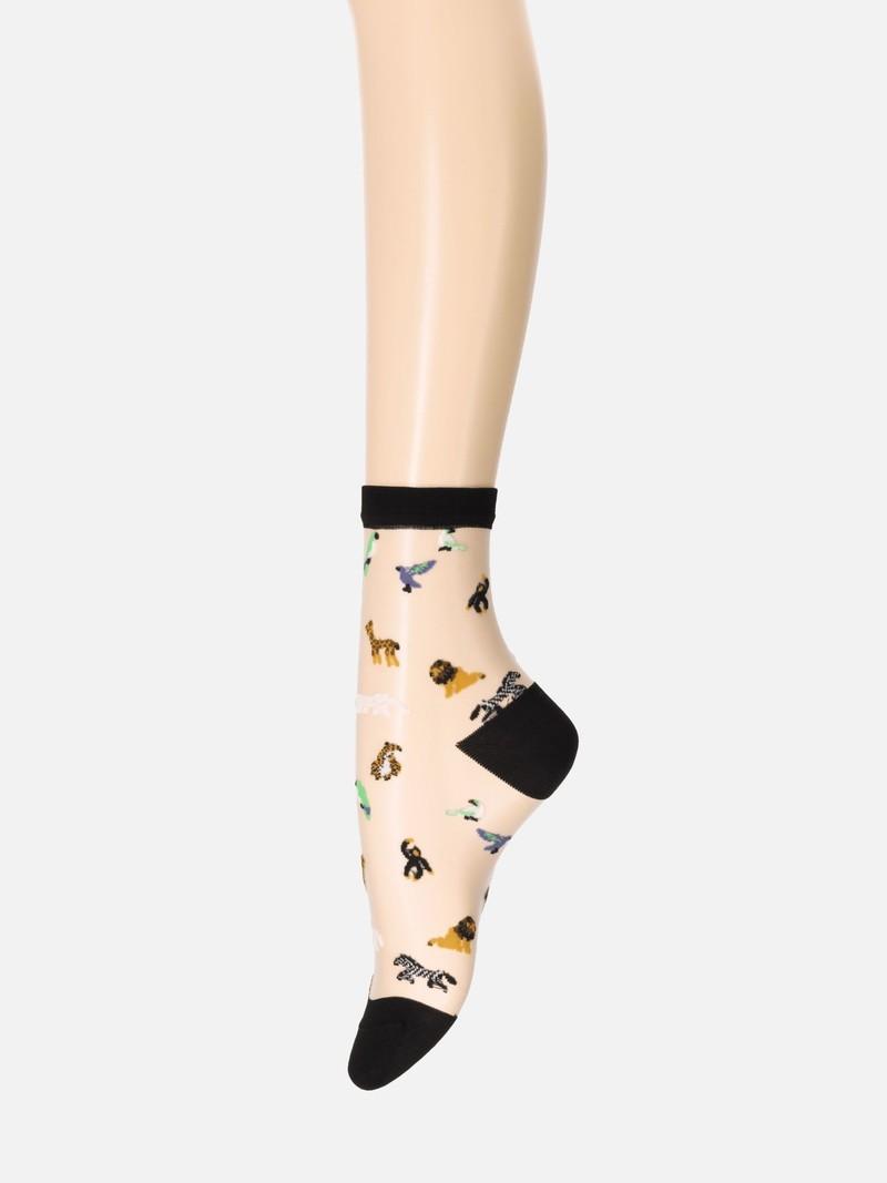 Tule dieren lage crew sokken