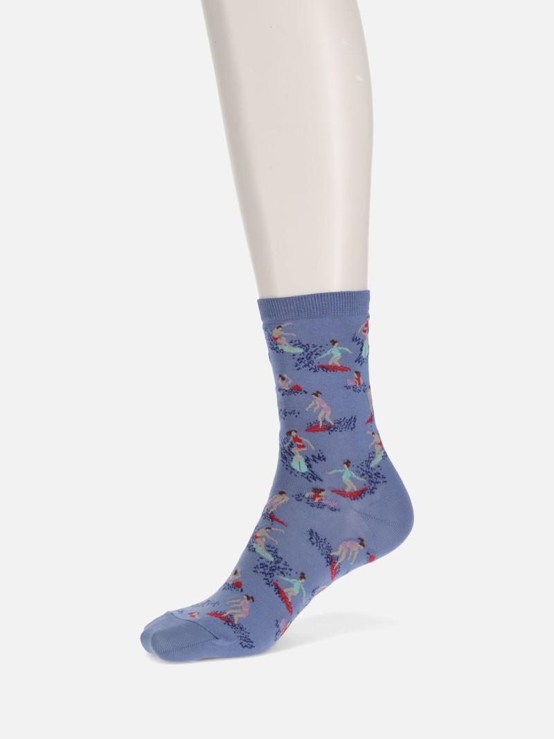 Lage sokken met surfpatroon