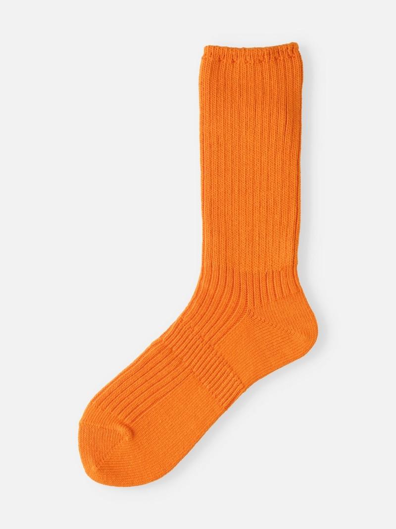 Cotton Ribbed Loose Crew Socken M