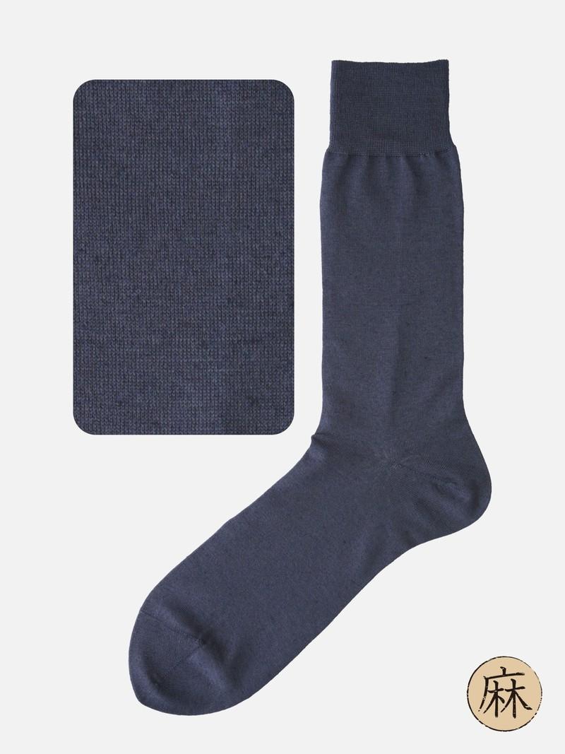 Katoenen / linnen effen halfhoge sokken M