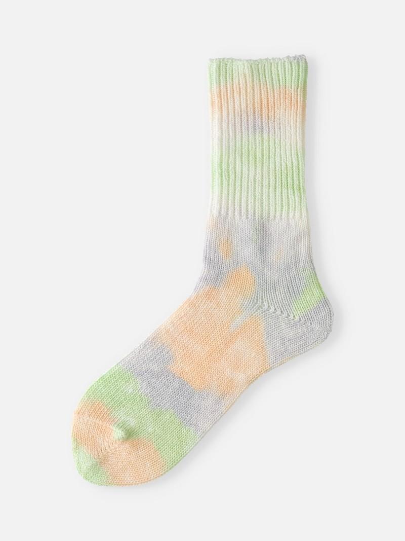 Katoen geribde Tie-Dye losse sokjes