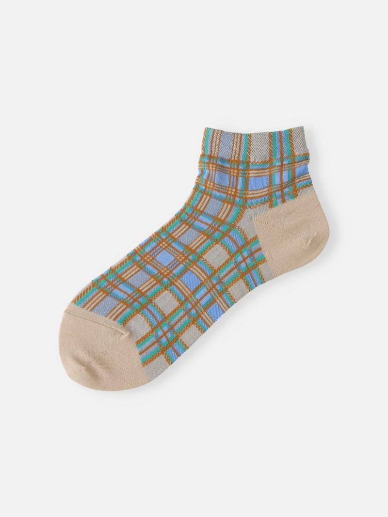 Madras karierte kurze Socke