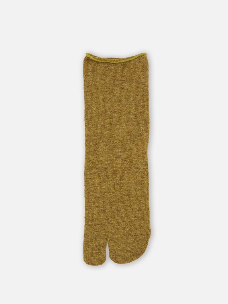 Einfache Lammwolle Tabi Socke gerollte Kante