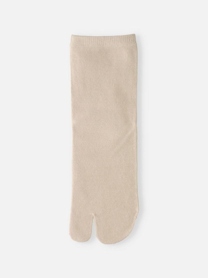 Plain Low Crew Tabi Socks