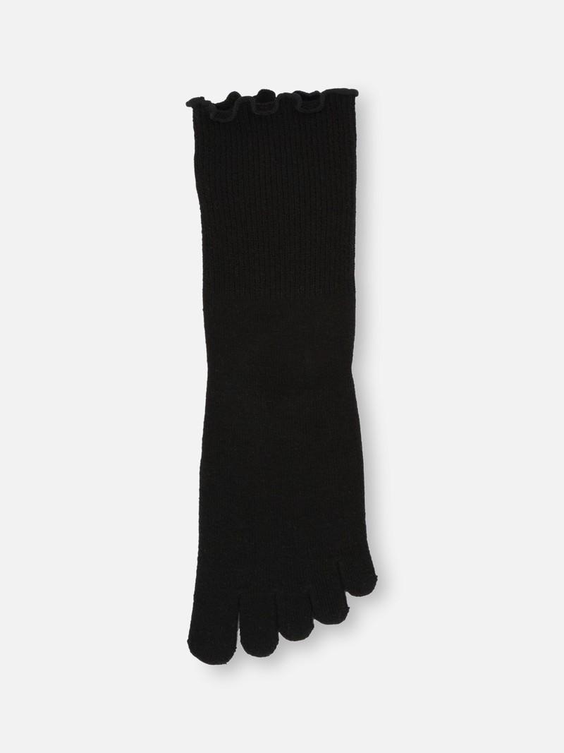 Effen 5-teen halfhoge sok zonder elastiek