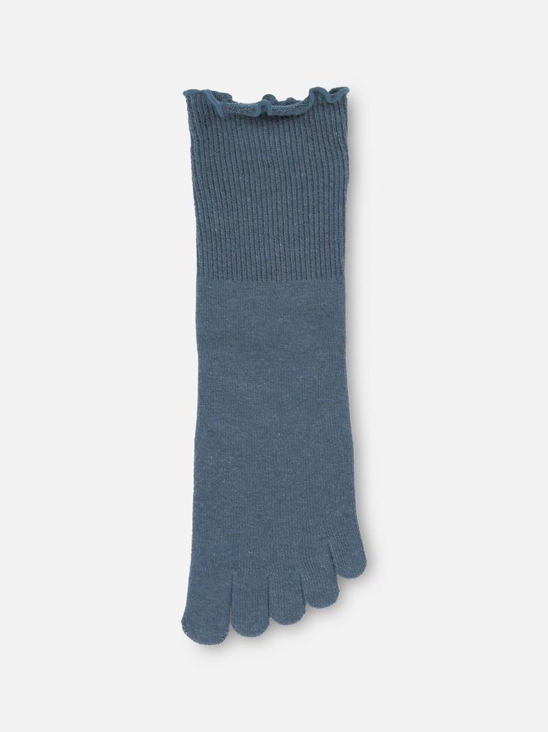 Mi-chaussette 5 orteils unie sans élastique