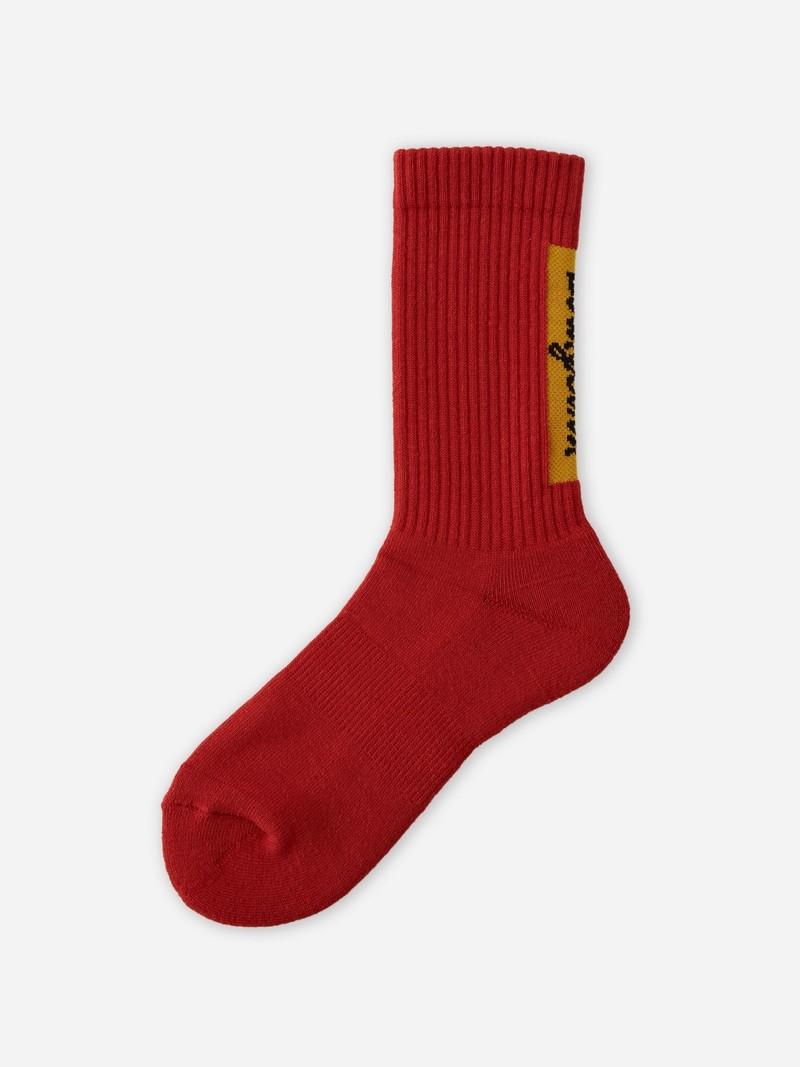 Evangelion Back Logo Rib Crew Socks S