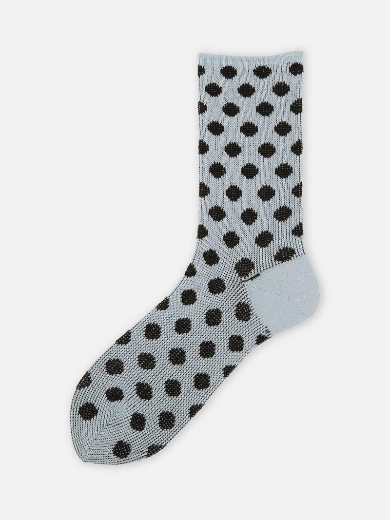 Jacquard Dots Crew Socks