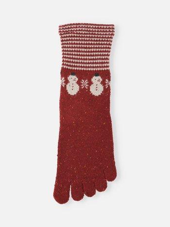 041140525 MC 5 orteils laine Mérinos Snowman