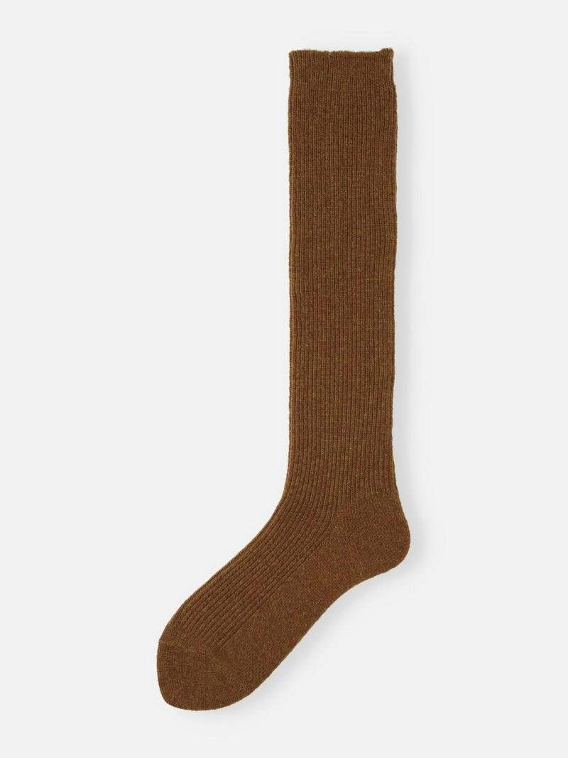 Premium Lambswool 1x1 Ribbed Crew Socks 96N