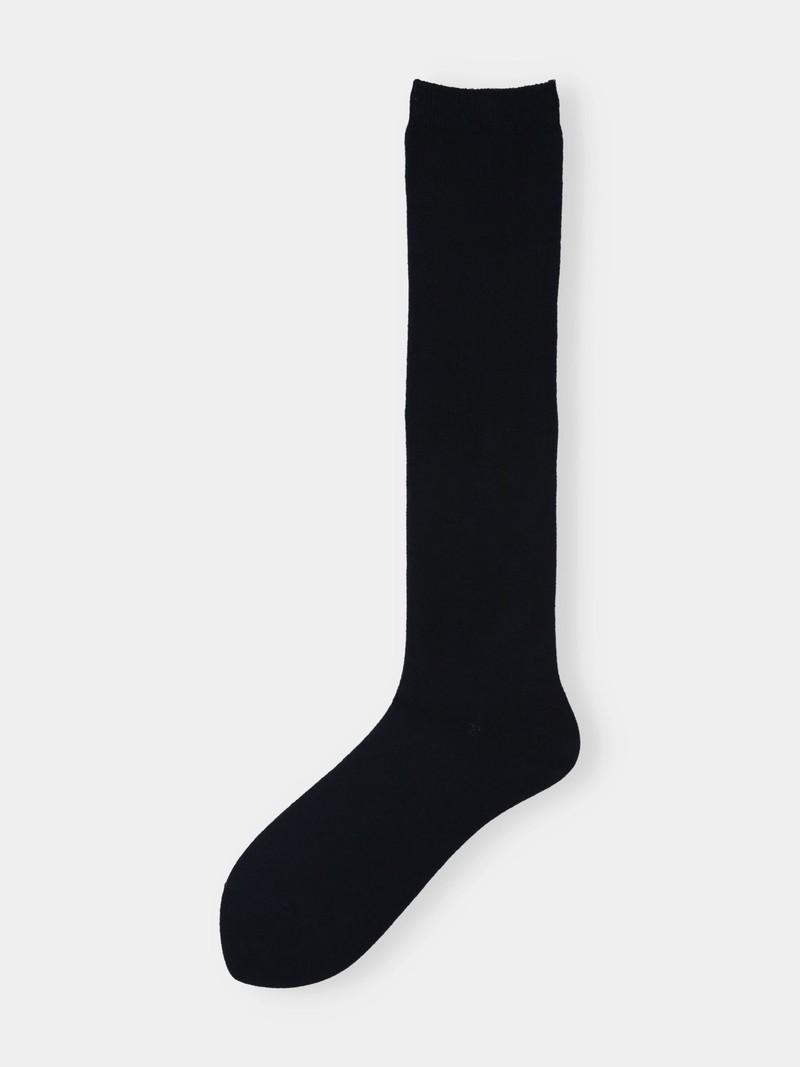 Chaussette haute unie moyenne jauge