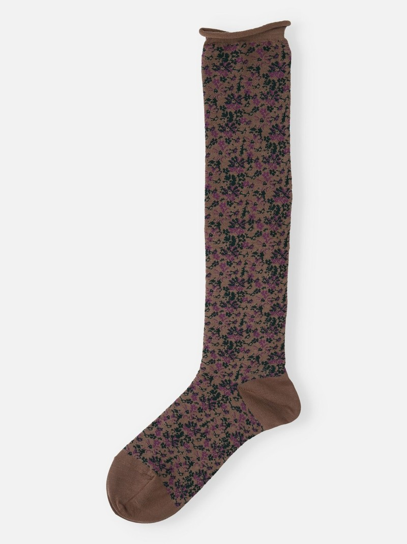 Floral Nuance Pattern High Socks