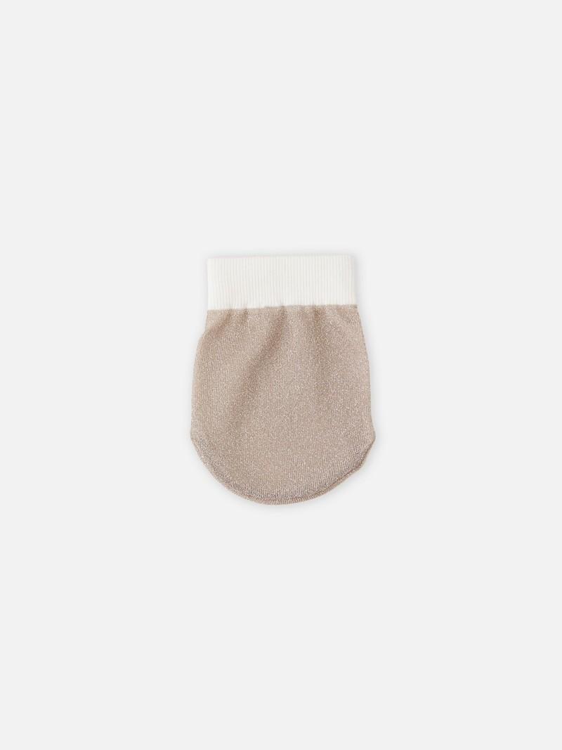 Toe-cover lamé transparent