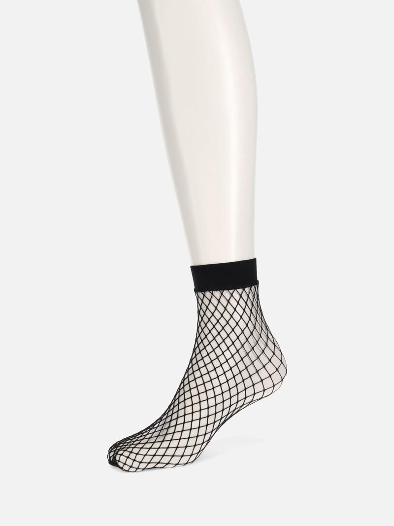 Large Fishnet Ankle Socks