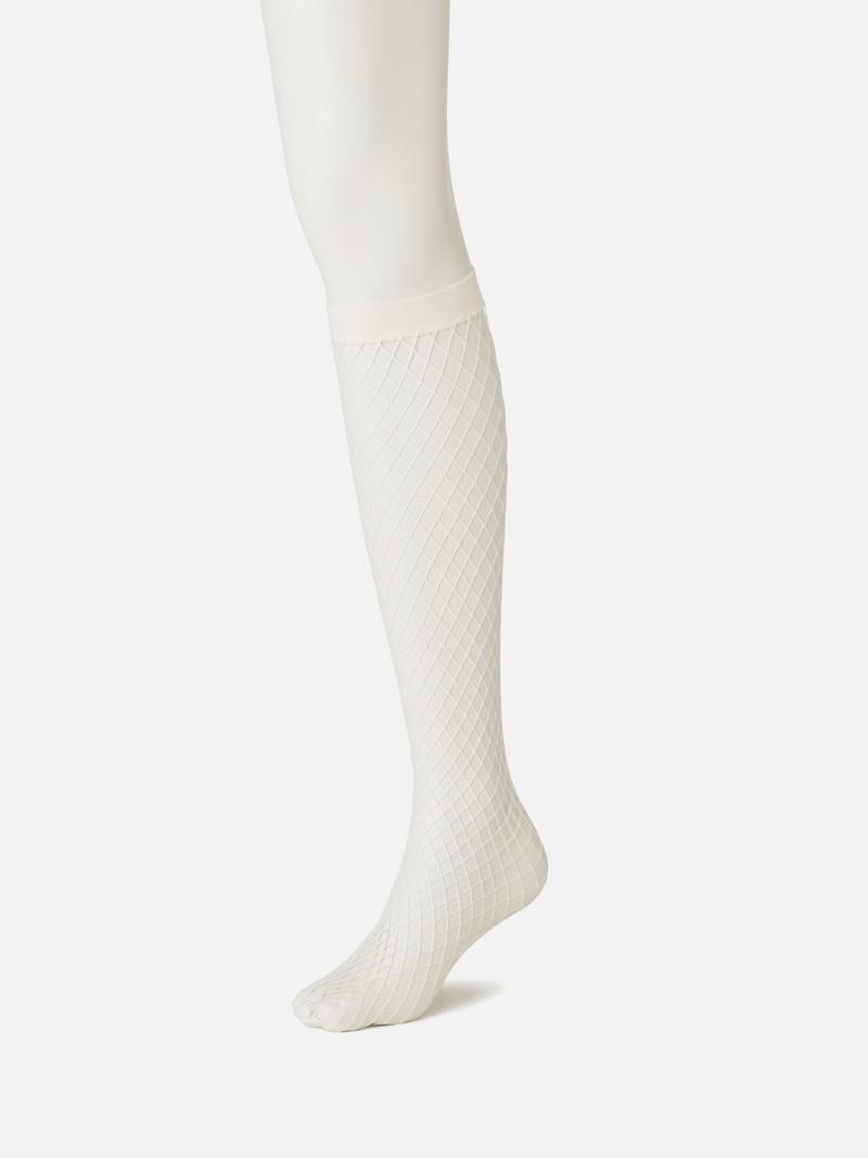 Large Fishnet Knee High Socks