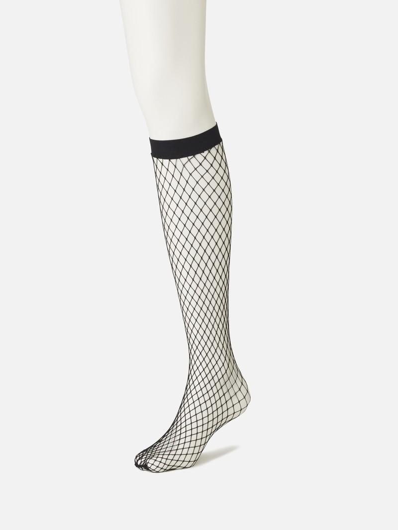 Grandi calze a rete di nylon