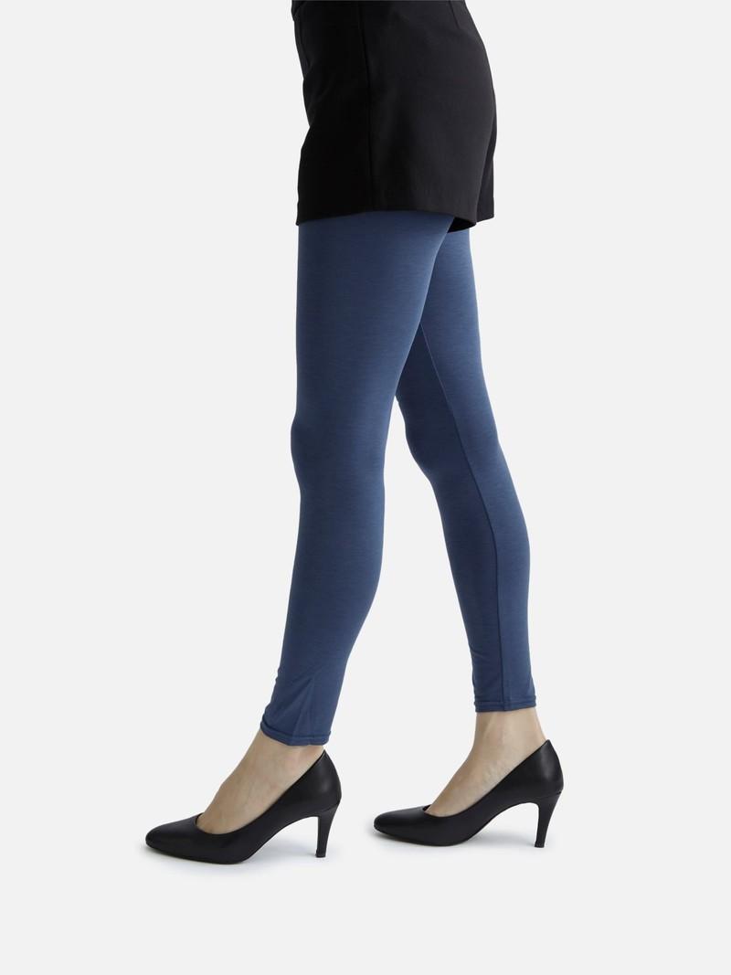Plain Mercerized Jersey Leggings M