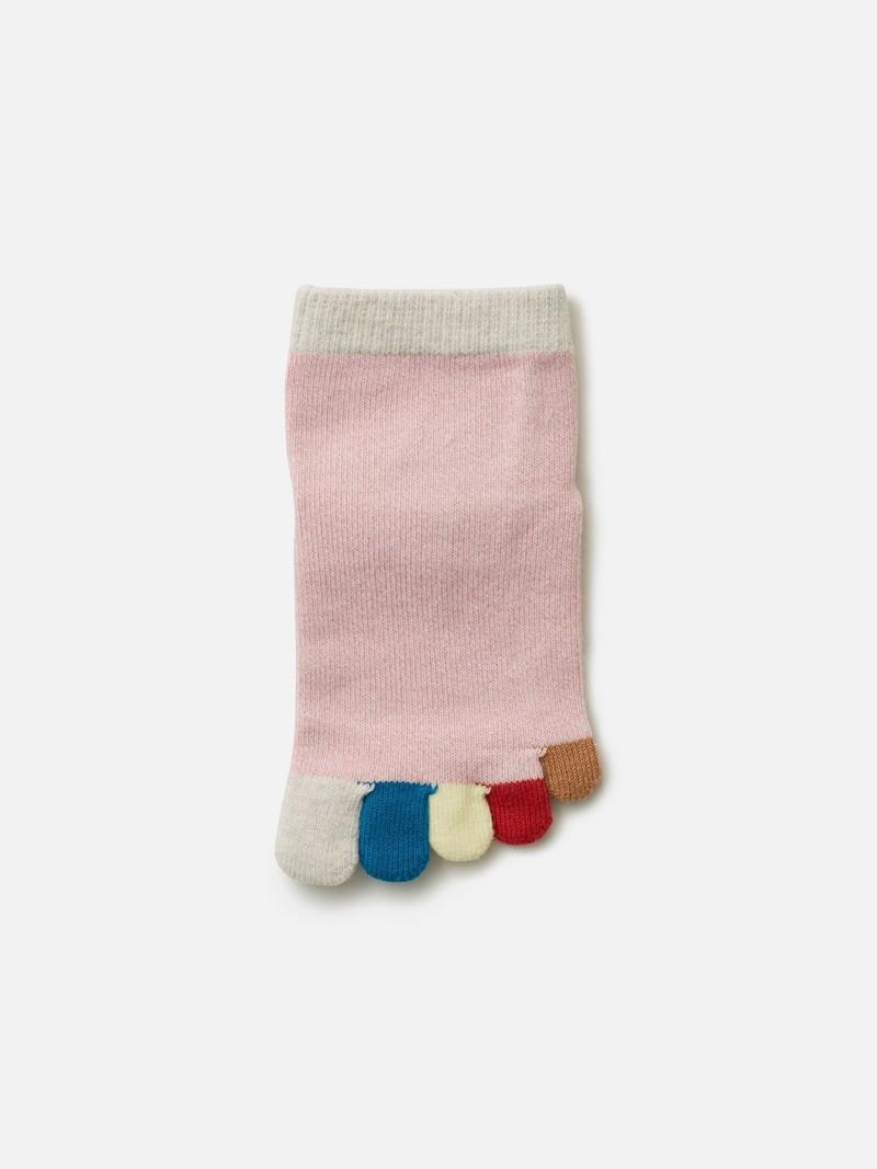 Regenbogen 5 Zehen kurze Socke Enf. 16-18