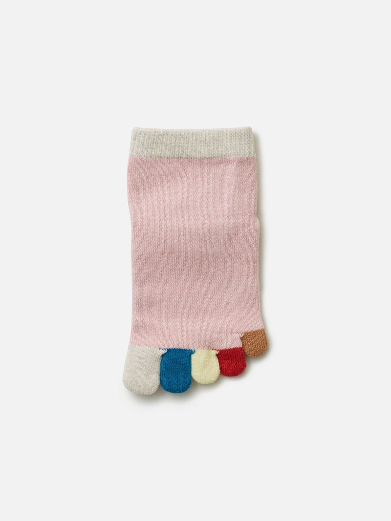 Regenbogen 5 Zehen kurze Socke Enf. 19-21
