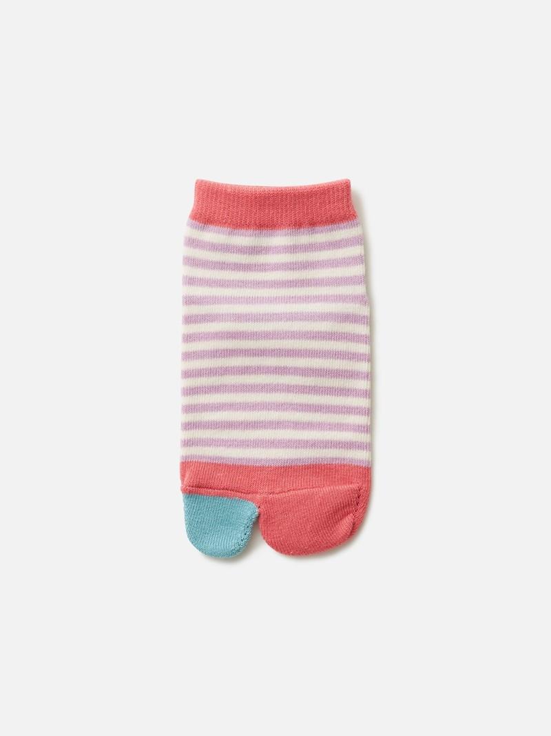 Kids Stripe Tabi Socks 13-15cm