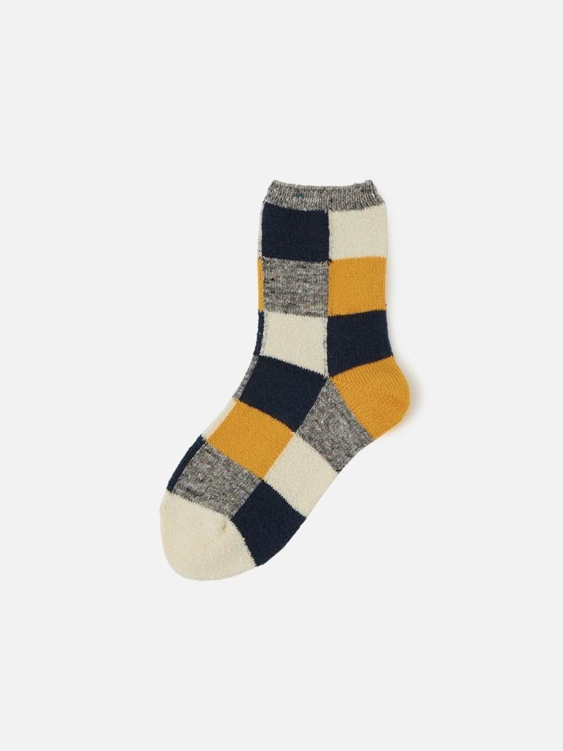 Mi-chaussette Patchwork laine Enf.19-21cm